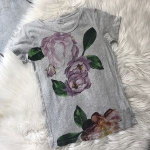 J Crew Collection Tee with Floral Print